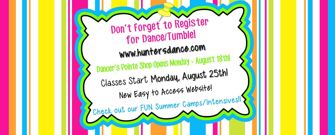 Register for Dance and Tumble!